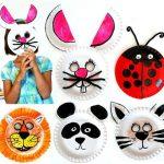 Фото 76: Круглые маски животных из одноразовых тарелок