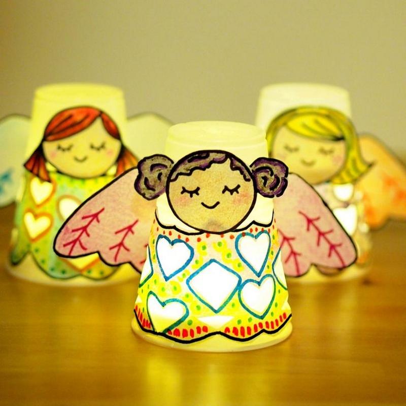Ангелочки из стаканчиков