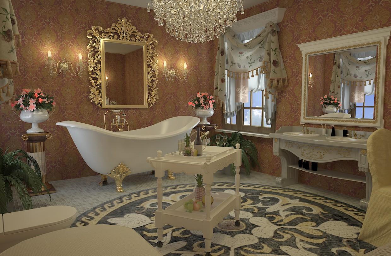 Дизайн ванной в стиле ампир