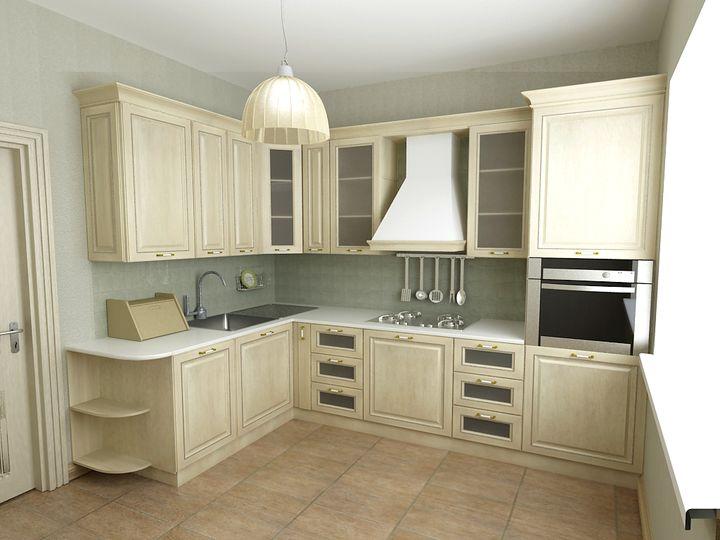маленькая угловая кухня 2