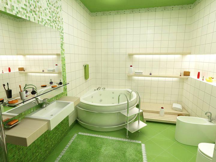 натяжные потолки в ванной 6