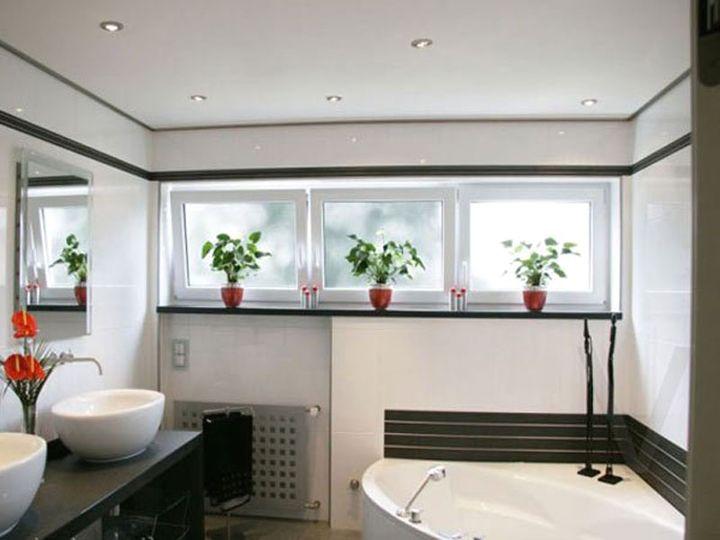 натяжные потолки в ванной 8