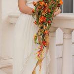 Фото 77: Необычный свадебный букет из фрезии