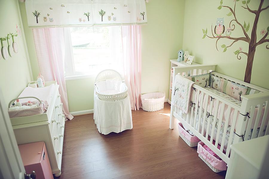 Комната для новорождённой девочки
