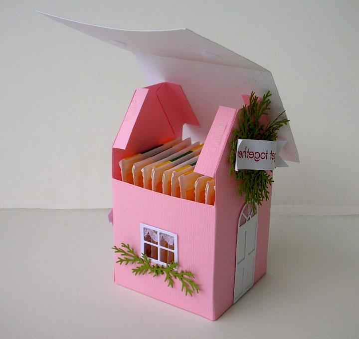 Картонные домики для пакетиков с чаем