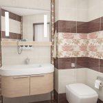 Фото 32: Дизайн ванной комнаты с рисунком