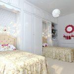Фото 163: Расположение кроватей в для двух девочек в арках