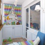Фото 76: детская комната на балконе