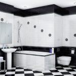 Фото 33: Дизайн ванной комнаты в черно-белых тонах