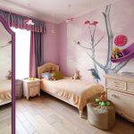 Фото 108: Фотообои в детской комнате для девочек