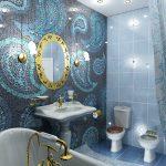 Фото 38: Мозаика в ванной комнате