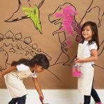 Фото 227: Обои - раскраска в детской