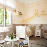 Фото 140: Стены в детской для новорождённой девочки с рисунком