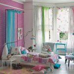 Фото 115: Сочетание штор в детской комнате для девочек