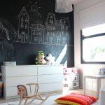 Фото 141: Стена для рисования в детской