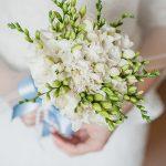 Фото 76: Свадебный букет из белых фрезий