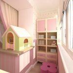 Фото 79: Дополнительное место для хранения на балконе в детской