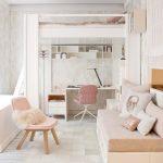 Фото 74: Выделение рабочей зоны с помощью мебельного уголка