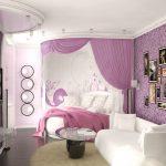 Фото 71: Выделение спальной зоны шторами