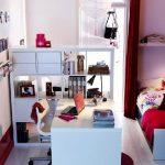 Фото 73: Зонирование стеллажом детской комнаты для девочек
