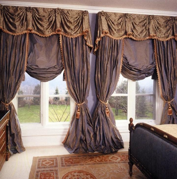 Французские шторы в спальню: идеи дизайна