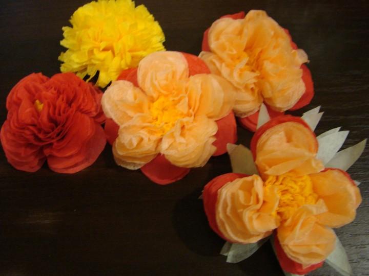 Цветок из салфеток своими руками