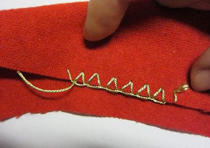 Как сшить прихват без швейной машинки