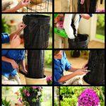 Фото 96: Изготовление вертикальной клумбы из петуний