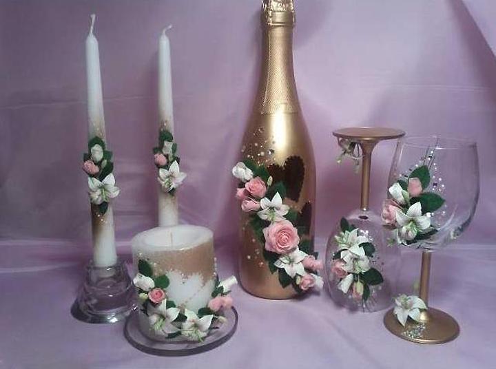 Свадебный декор с помощью холодного фарфора