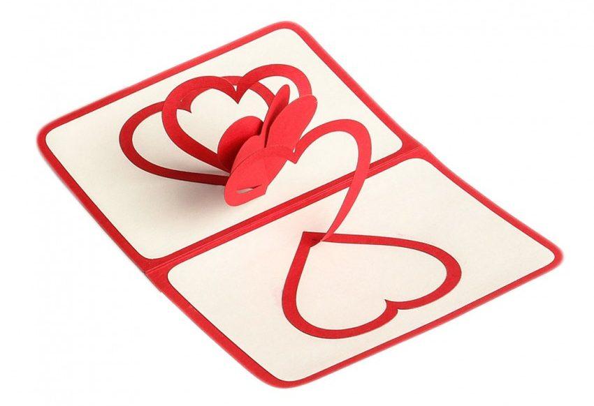 Объемная открытка с сердцем