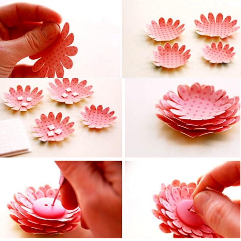 Изготовление цветочка для декорирования открытки