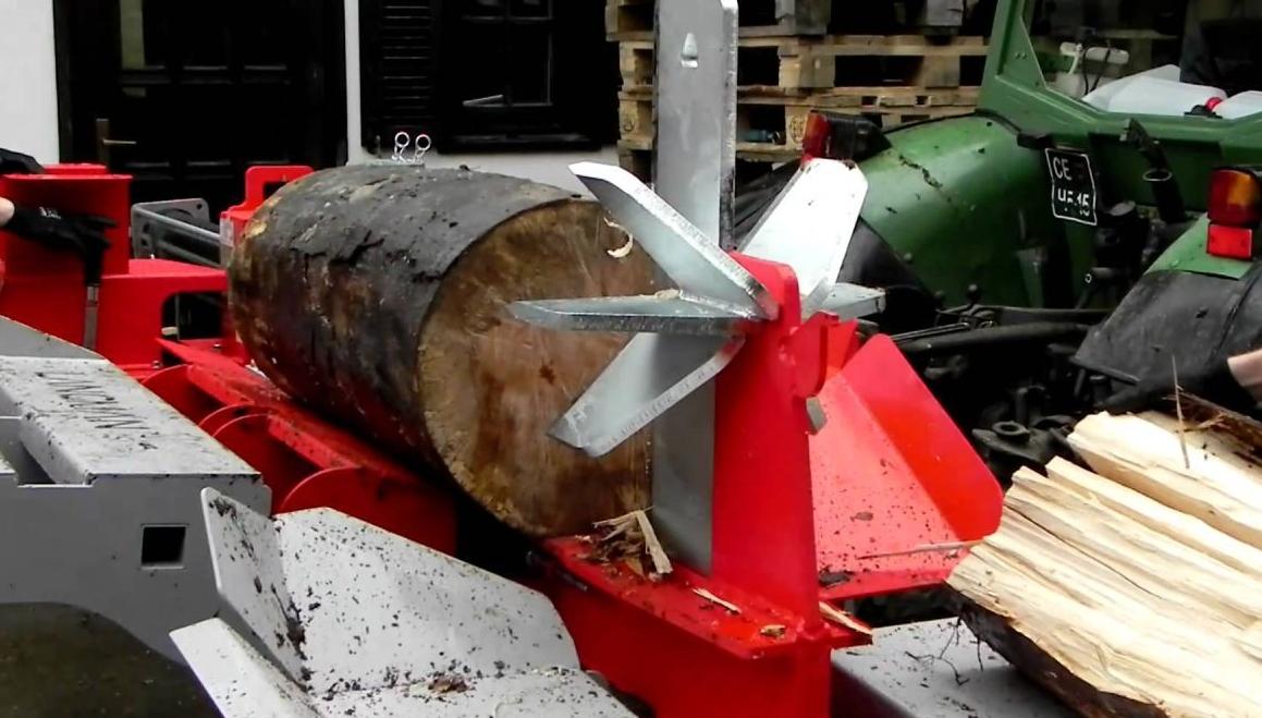 Крестообразный нож у дровокола