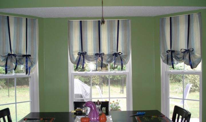 Дизайнерские занавески для кухни