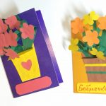 Фото 53: Открытки аппликации с цветами для бабушки