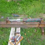 Фото 43: Простой гидравлический дровокол