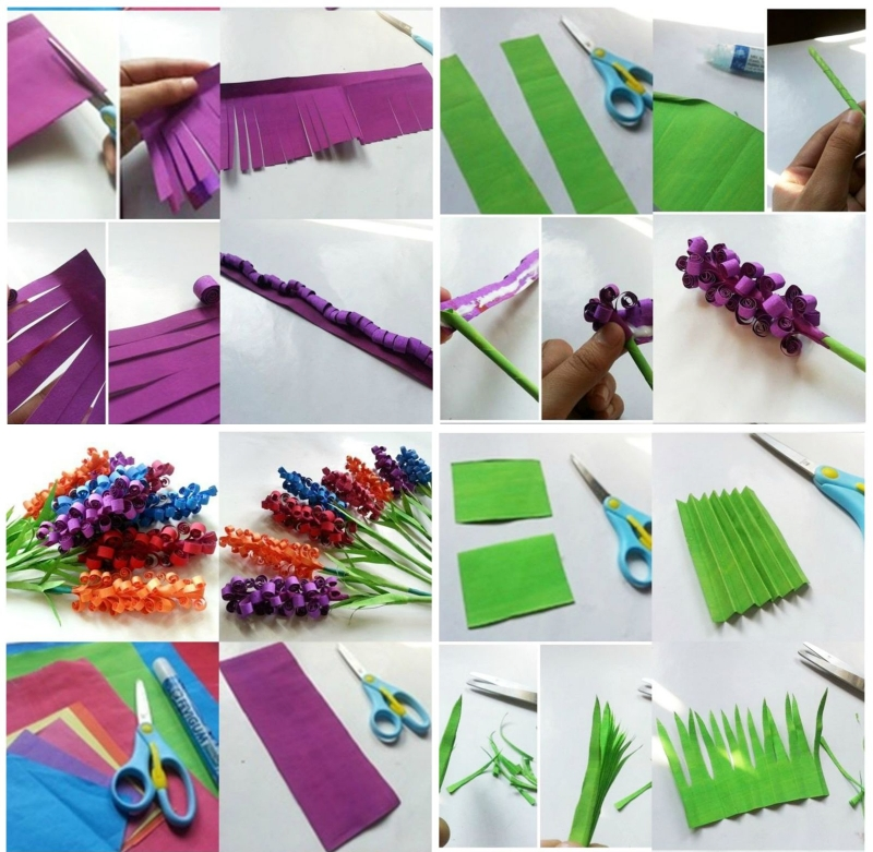 Изготовление открытки с гиацинтами