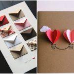 Фото 92: Открытки с конвертиками и сердечками