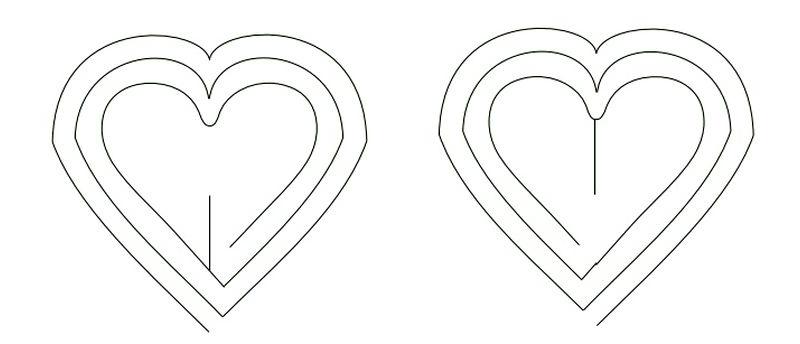 Выкройка для объемной открытки с сердцем