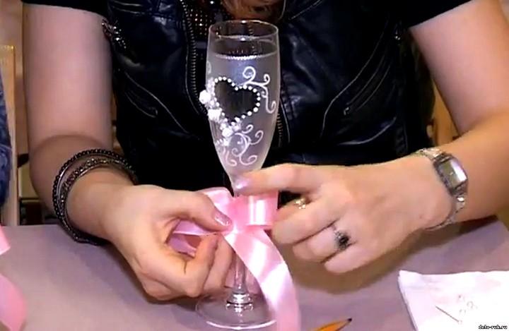 свадебные бокалы своими руками (2)