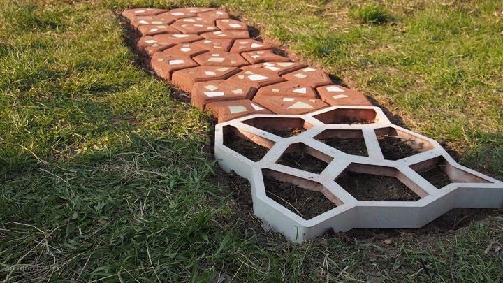 Форма для тротуарной плитки промышленного производства