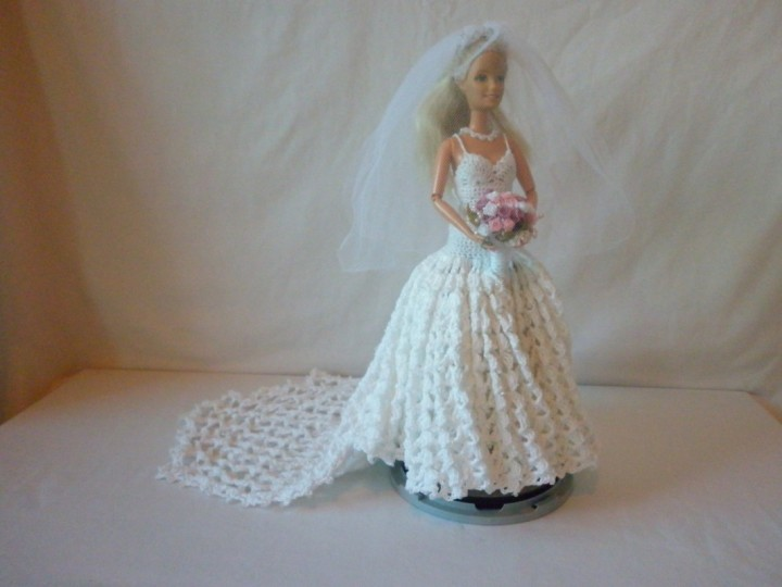 Как связать платье для Барби?