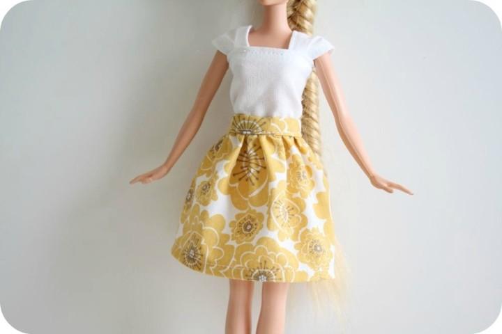 Красивое летнее платье для Барби