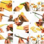 Фото 58: Как сделать нарциссы из гофрированной бумаги своими руками