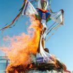 Фото 50: Сжигание ангела масленицы