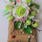 Фото 72: Декор подарочного шоколада цветами своими руками