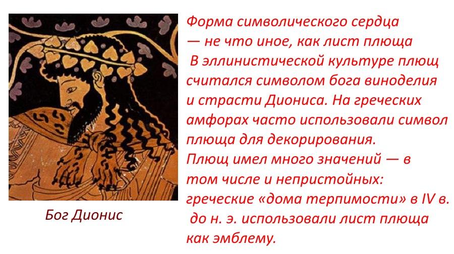 Греческое происхождение символа сердца