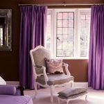 Фото 57: Модные фиолетовые шторы