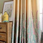 Фото 43: Градиентные шторы с рисунком