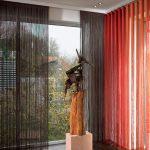 Фото 42: Нитяные градиентные шторы
