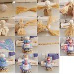 Фото 36: Сделать куколку–масленицу из соломы